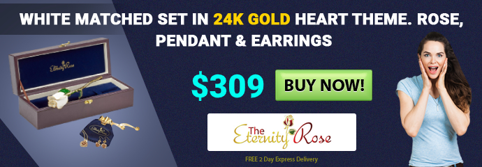 Matched set gift in 24k gold for February 14th