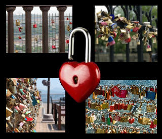 Love locks declare the eternal love